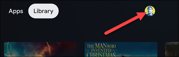 رمز الملف الشخصي على الشاشة الرئيسية