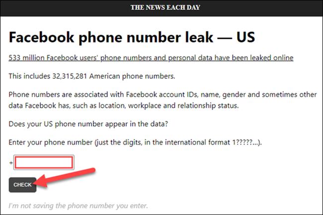 تحقق من رقم الهاتف