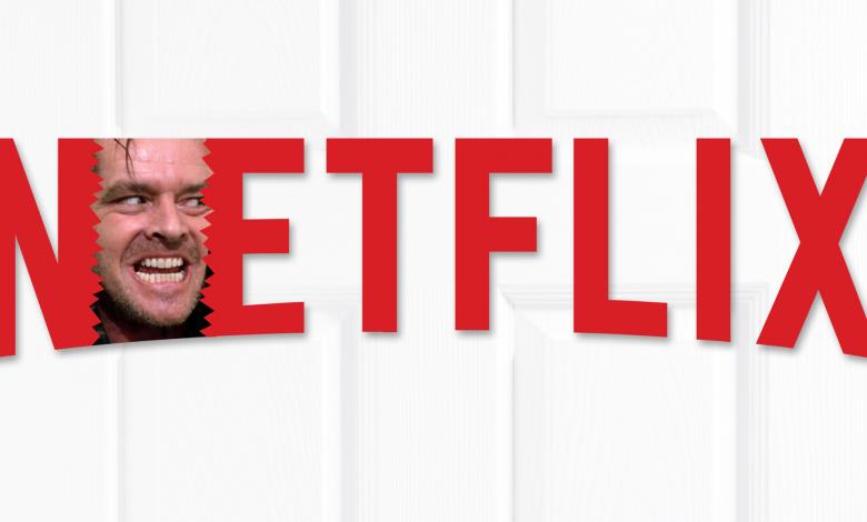 A Netflix logo with Jack Nicholson