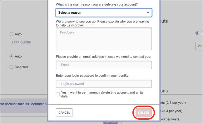 احذف حساب ProtonMail الخاص بك