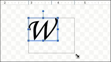اضبط حجم الرسم البياني عن طريق سحب الزوايا