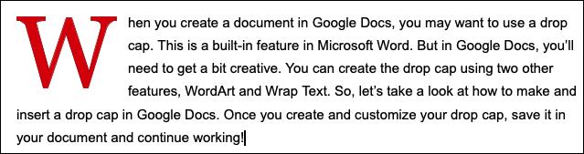 قبعات الإسقاط المعدلة في محرر مستندات Google