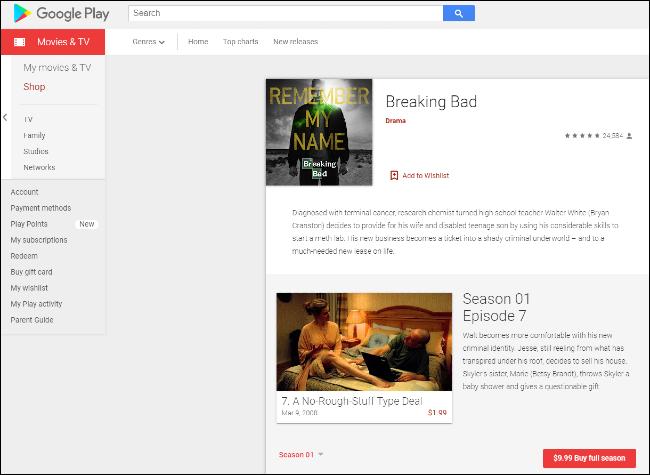 Breaking Bad على Google Play