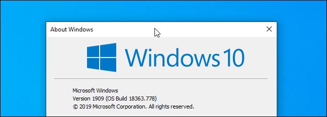 انقر فوق شريط عنوان النافذة في نظام التشغيل Windows 10.