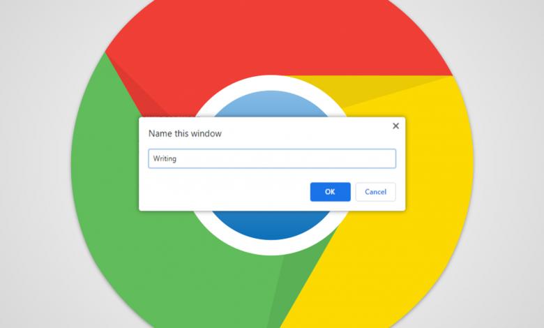 كيفية تسمية Alt + Tab وشريط المهام لنظام التشغيل Chrome Windows
