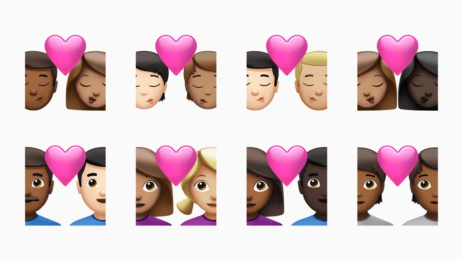 دعم الرموز التعبيرية الجديدة لألوان البشرة المختلفة