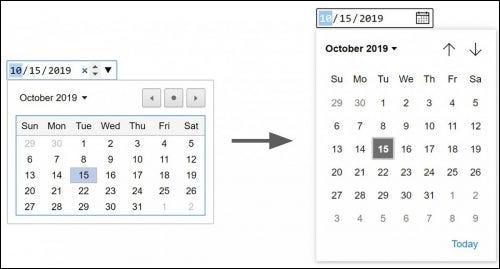 حدد تاريخ التقويم.