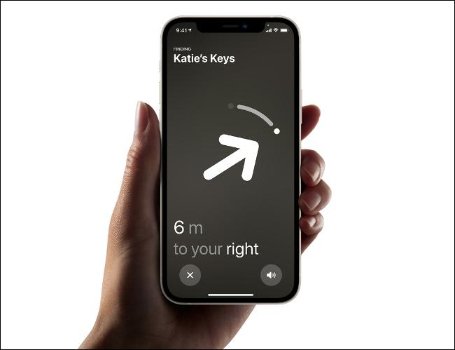 استخدم iPhone لتحديد موقع AirTag القريب