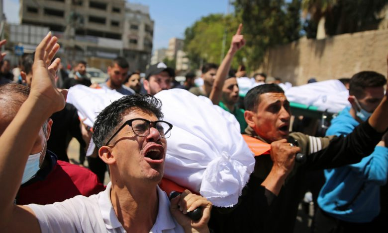 في الصورة: تشييع وتدمير الهجوم الاسرائيلي المستمر | غاليري نيوز