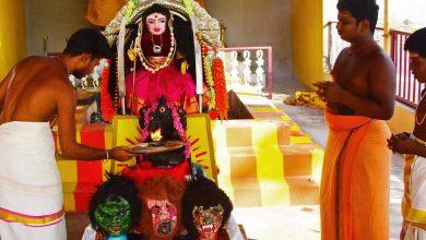 """صورة """" كورونا ديفي """": كاهن هندي يصلي من أجل رحمة COVID أخبار جائحة فيروس كورونا"""