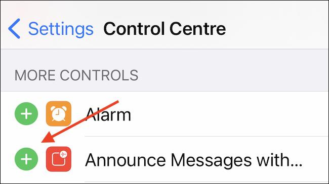 أضف رسالة إعلان إلى مركز التحكم