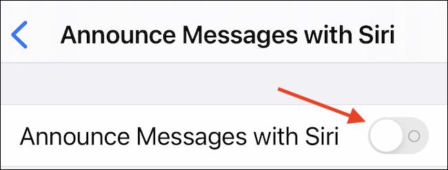 استخدم وظيفة Siri لتمكين رسائل الإعلان