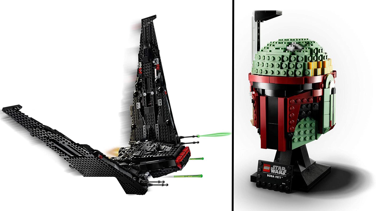 مكوك الفضاء LEGO Kylo Ren ، خوذة Boba Fett