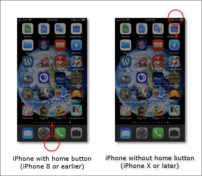 اسحب لأسفل من الزاوية اليمنى العليا للشاشة أو أسفل شاشة الجهاز القديم لتشغيل مركز التحكم على iPhone أو iPad.