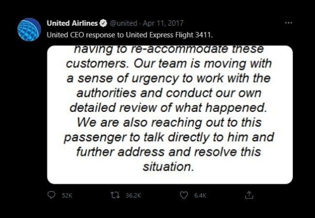 يستجيب الرئيس التنفيذي لشركة الخطوط الجوية المتحدة