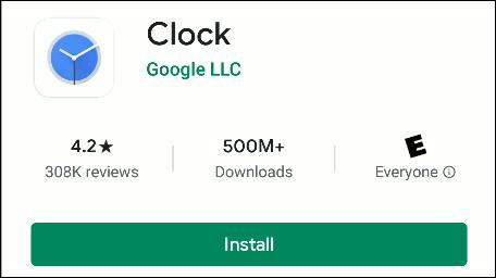 تطبيق Google Clock في متجر Play.