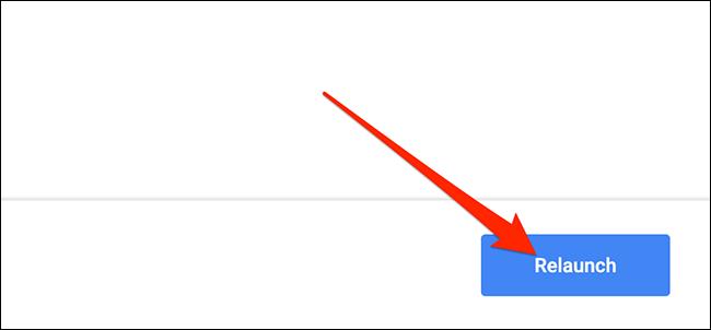 """انقر فوق """"إعادة تشغيل"""" أغلق Chrome وأعد فتحه."""