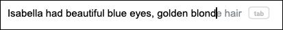اقتراحات الكتابة الذكية في محرر مستندات Google عبر الإنترنت