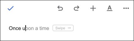 توصيات الكتابة الذكية في مستندات Google للجوال