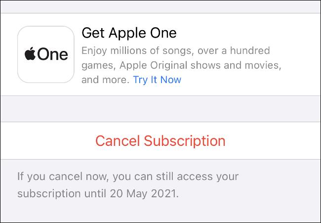 إلغاء اشتراك iPhone