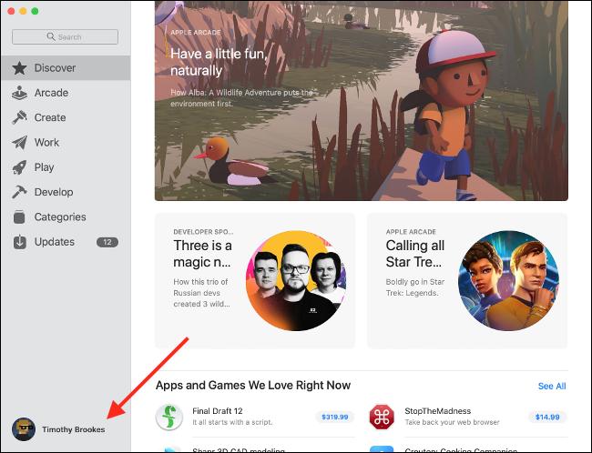 تفضيلات Apple ID لمتجر تطبيقات Mac