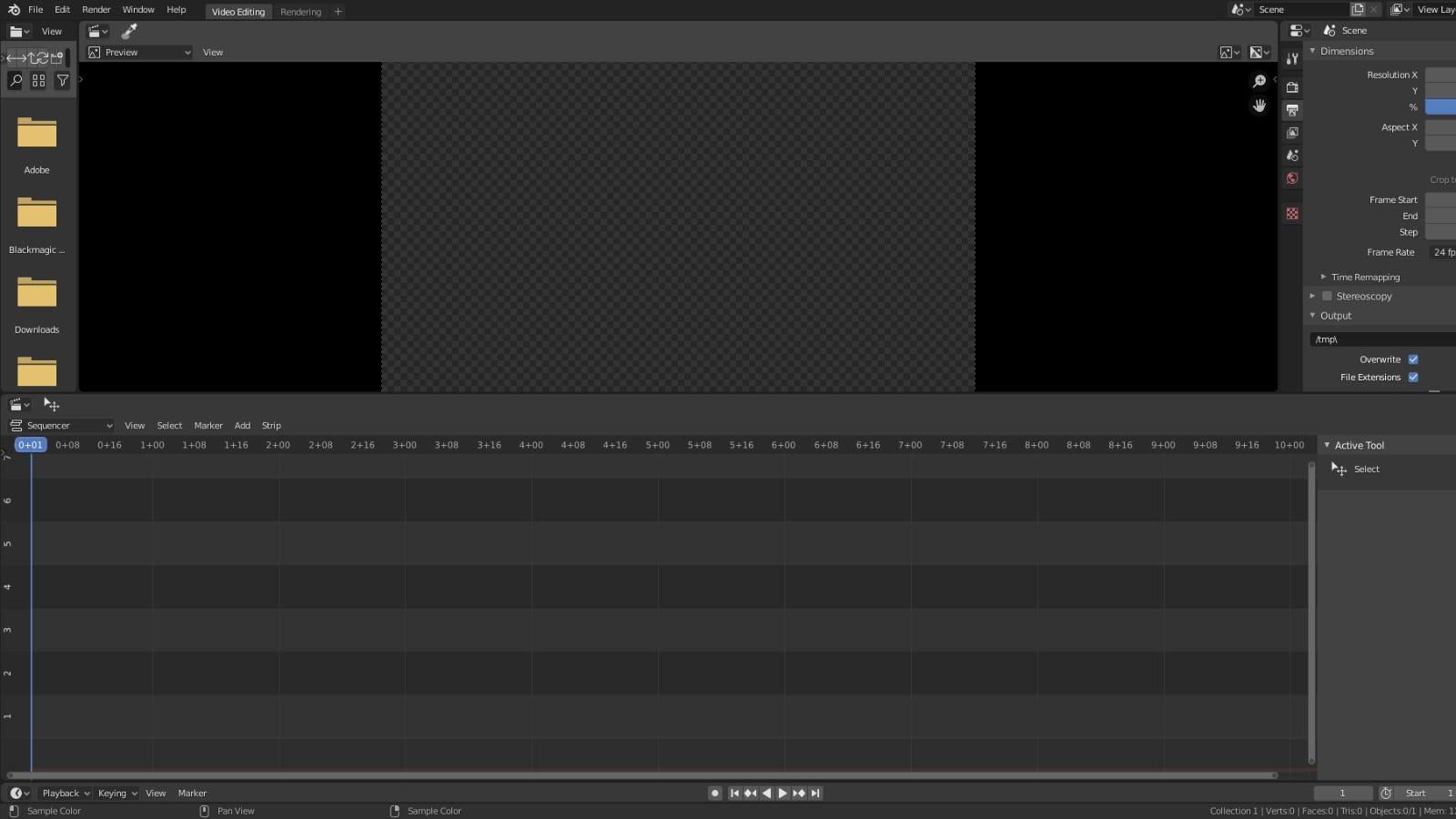 نافذة تحرير الفيديو الرئيسية للخلاط