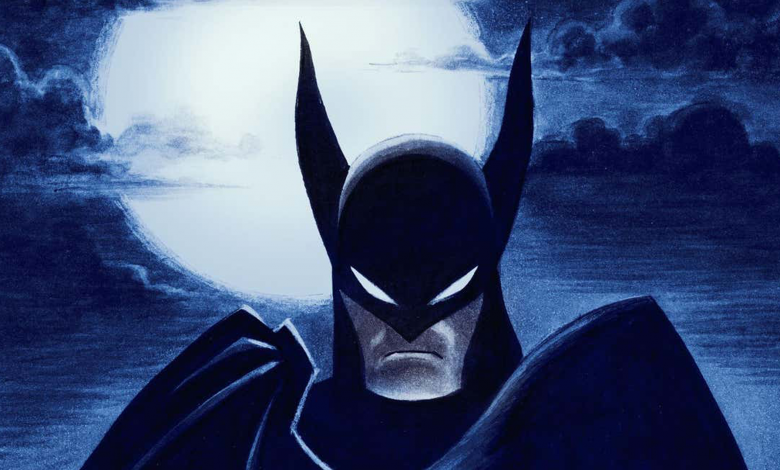 Stylized animation of Batman