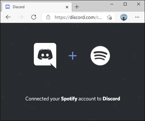يتصل Spotify بـ Discord للتأكيد.