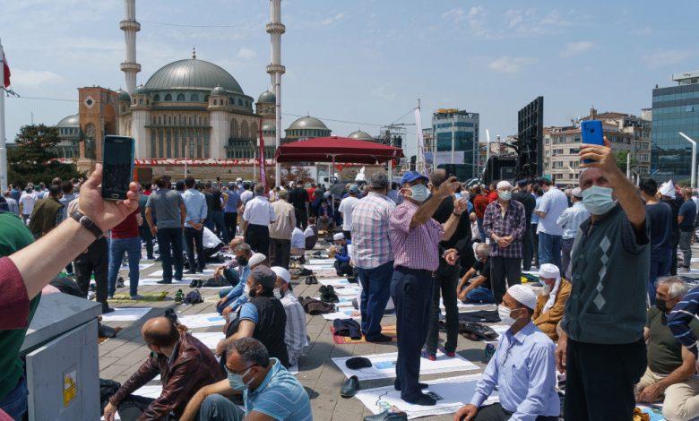 إردوغان يفتتح مسجدًا مميزًا في ساحة تقسيم بإسطنبول | الأخبار السياسية