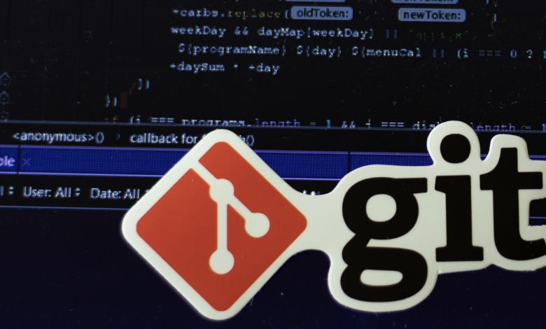 git logo on background