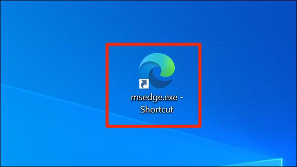 الاختصار المخصص لـ Edge على سطح مكتب Windows.