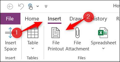 خيارات طباعة الملفات في Microsoft OneNote