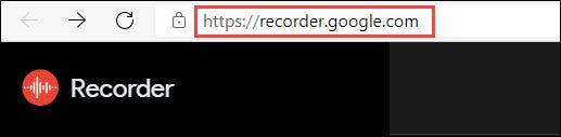 موقع Google Voice Recorder