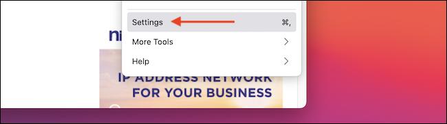 """تحديد """"اقامة"""" من قائمة Firefox."""