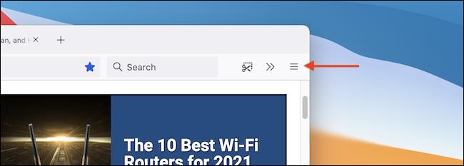 انقر فوق زر القائمة المكون من ثلاثة أسطر في شريط أدوات Firefox.