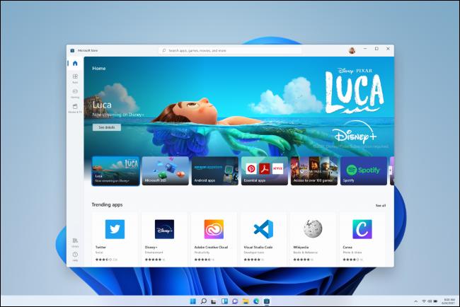 تطبيق متجر التطبيقات الجديد لنظام التشغيل Windows 11.