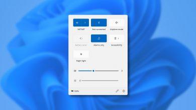 """صورة كيف تعمل قائمة """"الإعدادات السريعة"""" الجديدة في Home windows 11"""