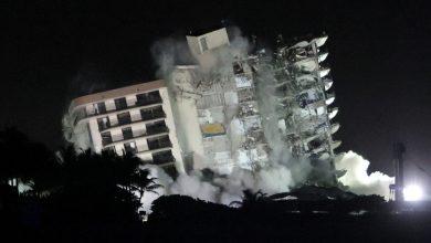 صورة هدم شقة في فلوريدا منهارة واستعادة عمليات البحث والإنقاذ | أخبار الولايات المتحدة وكندا