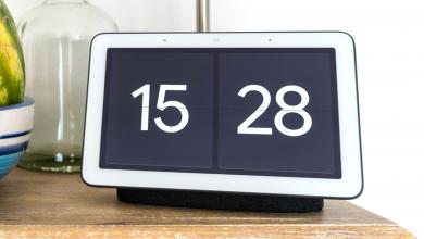 صورة كيفية الحصول على ساعة ملء الشاشة على Google Nest Hub