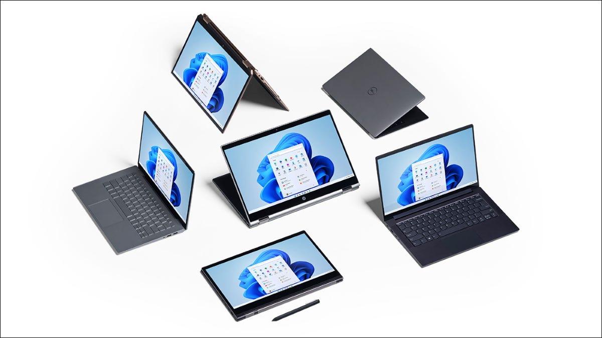 أجهزة الكمبيوتر المحمولة والأجهزة اللوحية التي تعمل بنظام Windows 11.